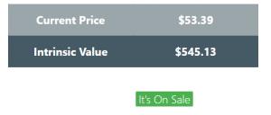 Buy stocks at a good price